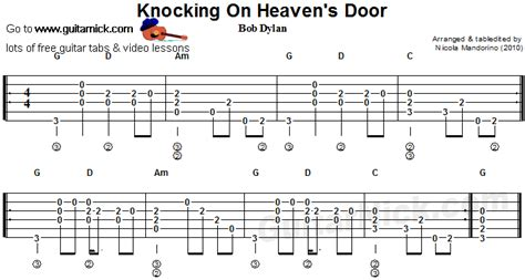 Knocking On Heavens Door by Door Chords Bob Knockin U0027 On Heaven U0027s Door Banjo Lyrics U0026 Chords Quot Quot Sc Quot 1