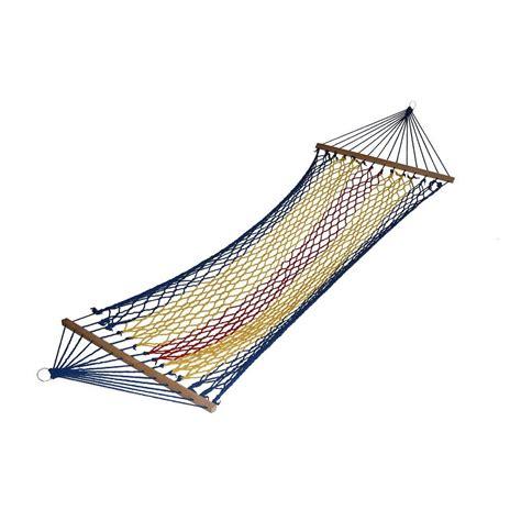 ore international 6 ft swing polyester rope hammock in