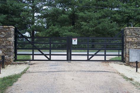 dual swing gate custom dual swing farm gate 171 mid atlantic entry systems inc