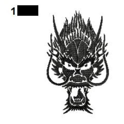 dragon face tattoo designs embroidery design