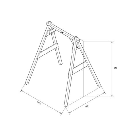 dimensions of a swing set single swing brown axi