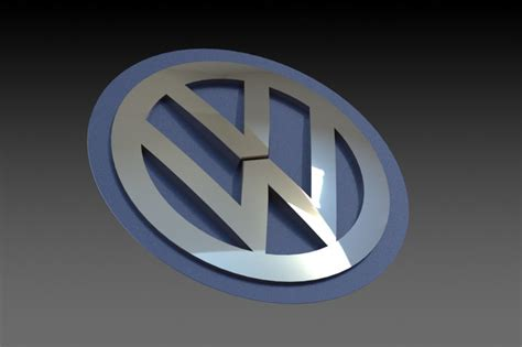 logo volkswagen das auto volkswagen logo das auto solidworks 3d cad model
