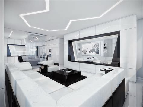 futuristic homes interior black and white contemporary interior design ideas for