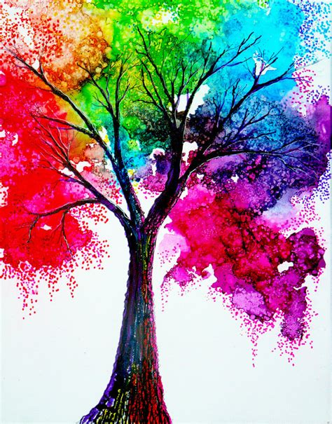 colorful trees rainbow tree by annmariebone on deviantart
