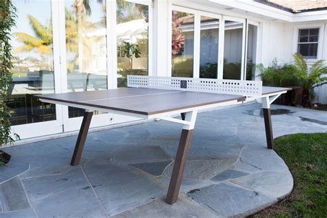 ping pong table width woolsey outdoor ping pong table 187 gadget flow