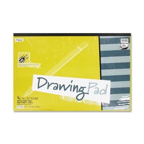 drawing pad free mead acad 233 mie drawing pad 24 sheets acid free 18 x 12