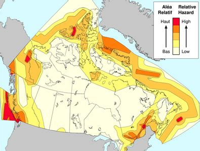earthquake zones in canada canada earthquake zones