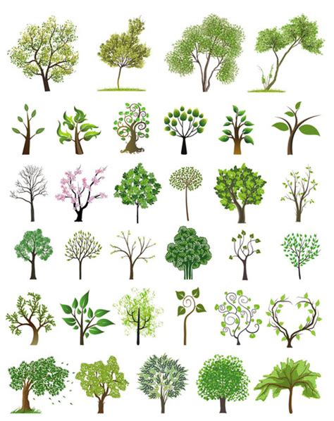 vector tree free vector trees vector graphics