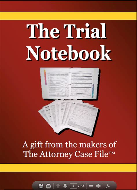 trial notebook template the trial notebook the most useful tool a paralegal can