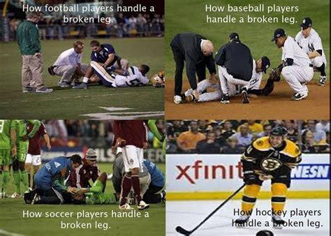 Soccer Hockey Meme - hockey players vs soccer players google search my