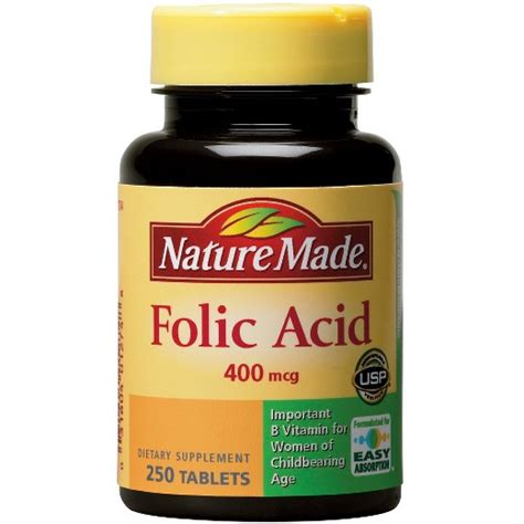 Vitamin Folic Acid nature made folic acid 400 mcg tablets 250ct target