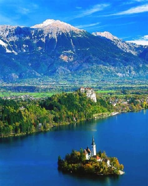 slovenia lake lake bled julian alps slovenia travel pinterest