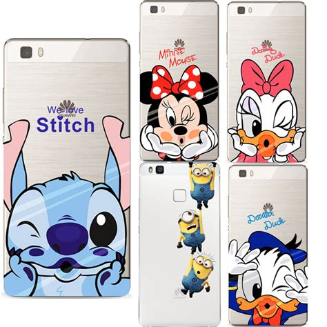 Flip Cover Gambar Kucing Donald Minie Mikey Samsung Ace 2 8160 aliexpress buy mickey minnie soft silicon transparent tpu cover coque for