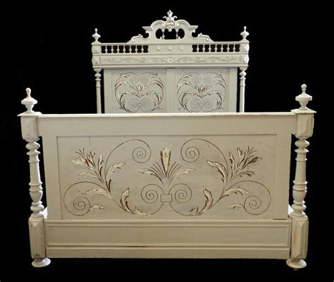 go to bed in french c19 french antique double bed base ready to go in from