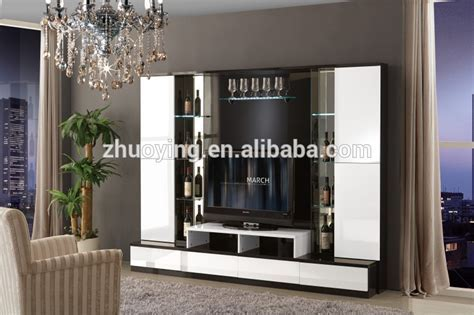 Cheap Wood Design Led Tv Wall Unit Tv Cabinets Wall Unit