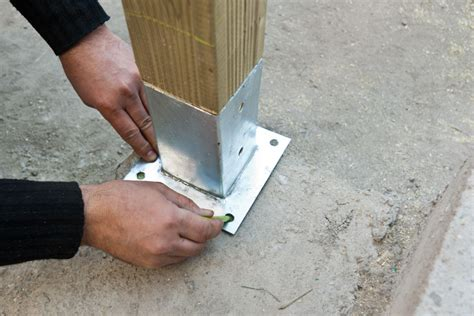Alfa img showing gt fence post anchors in concrete