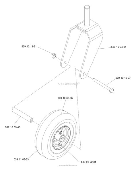husqvarna      parts diagram  caster assembly