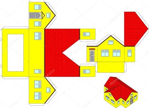 printable papercraft printable 3d paper crafts house world of printable and chart