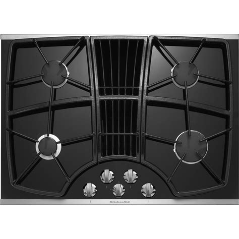 cooktops with downdrafts kitchenaid kgcd807xss 30 quot 4 burner downdraft cooktop