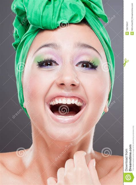 showing teeth happy smiling showing teeth royalty free stock photography image 18679847