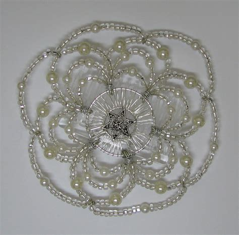 s beaded wire kippah in simply design