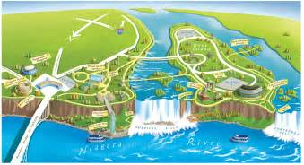 map of us and canada niagra falls niagara falls state park