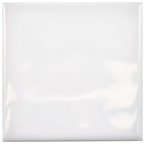 merola tile twist square white ice 3 3 4 in x 3 3 4 in ceramic wall tile wrc4twwi the home depot