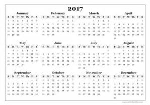 1 year calendar template 2017 yearly blank calendar template free printable templates