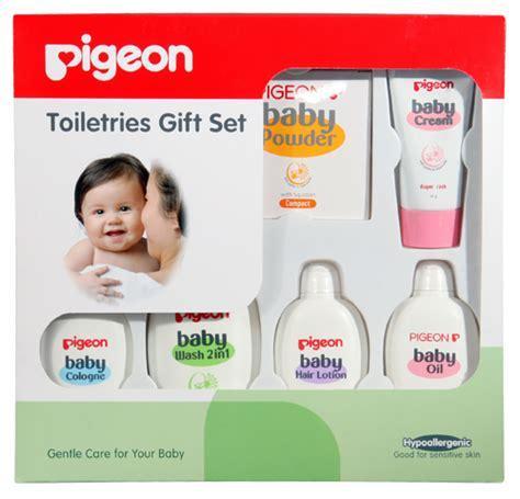 Pigeon Baby Toiletries Hypoallergenic Gift Set Murah recomendasi produk hypoallergenic untuk bayi mawar berduri