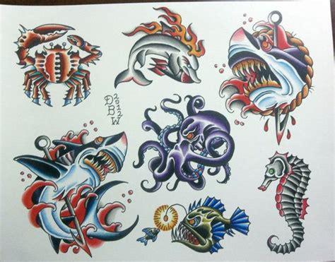 Nautical Ii Traditional Tattoo Flash Sheet By Derekbward Nautical Flash 2