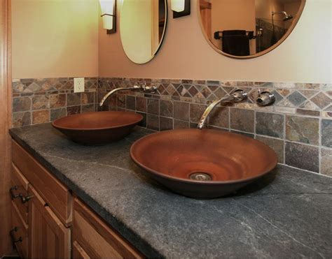 Slate Bathroom Countertops by Innovative Trends 171 Wooden Thumb Remodeling