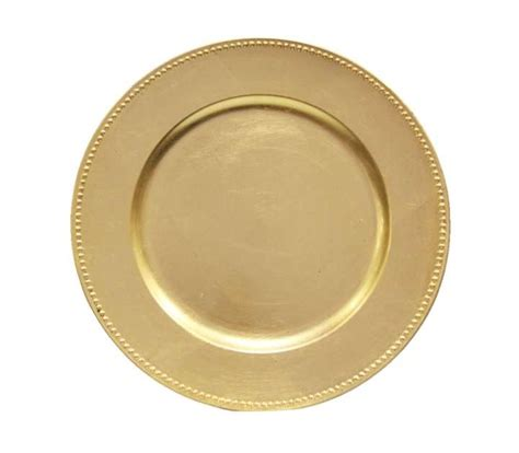 wholesale charger plates lot of 120 gold charger plates with beaded 13