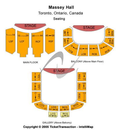 massey hall floor plan massey hall tickets in toronto ontario massey hall