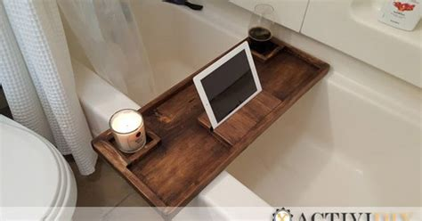 diy bathtub tray do it yourself woodworking plans to build a wooden rustic