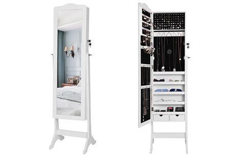 armadio specchio portagioie songmics armadio specchio portagioie gioielli a chiave
