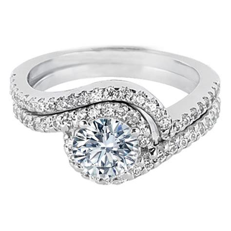engagement ring swirl halo engagement ring and