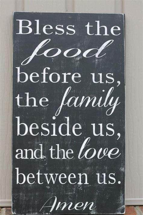 Poster Bless The Food Before Us The Family Beside Us The i jesus bless the food before us the family