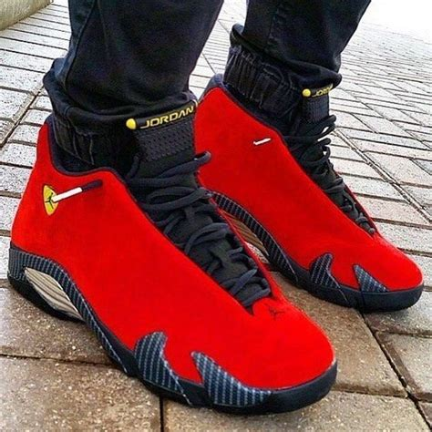 retro ferrari shoes nike air jordan 14 retro quot ferrari quot available at
