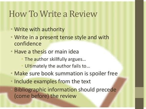 How To Make A Book With One Of Paper - writing a book review revised ed