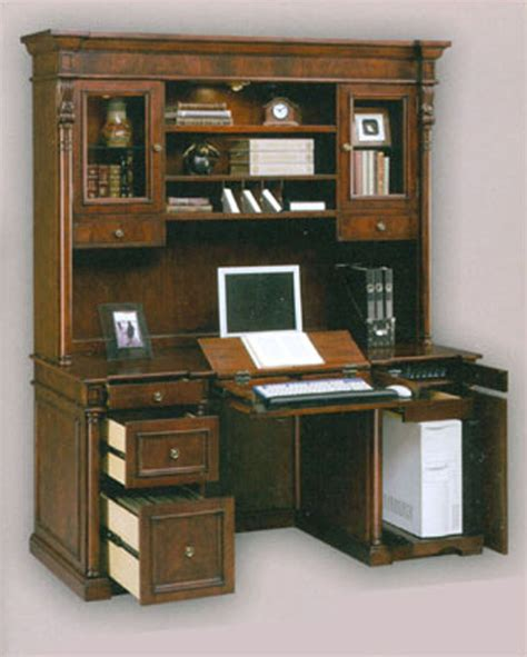 home computer desk with hutch computer credenza desk hutch si 210 41