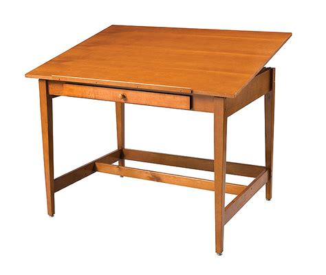 Alvin Vanguard 28x42 Wooden Drafting Table 4 Post Eco Wood Drafting Tables