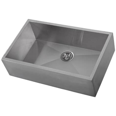 ticor s4403 zero radius 33 quot farmhouse stainless steel
