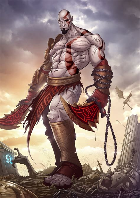 imagenes epicas de kratos god of war 3 by patrickbrown on deviantart