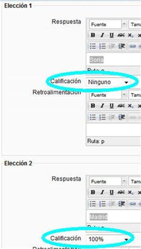 preguntas de español opcion multiple creaci 243 n de ex 225 menes con moodle observatorio tecnol 243 gico