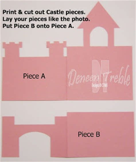 castle card template a path of paper castle card template