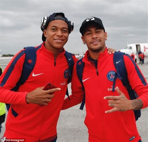 kylian mbappe and neymar psg duo kylian mbappe and neymar jet off to metz daily