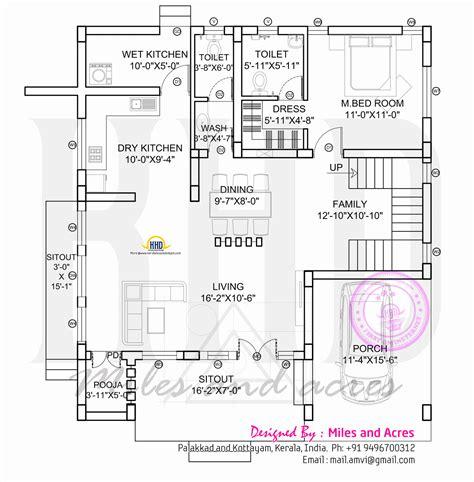ground floor floor home plan kerala traditional home design keralahousedesigns