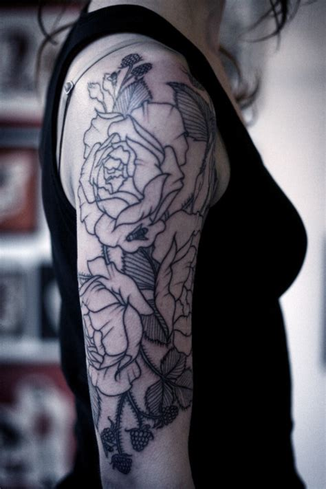 sleeve tattoo tumblr tattoos half sleeve roses wip tattooed carrier