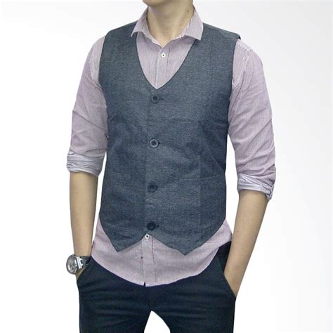 Jaket Vest Rompi Polos 2 harga spesifikasi vm rompi jas hitam terbaru cek
