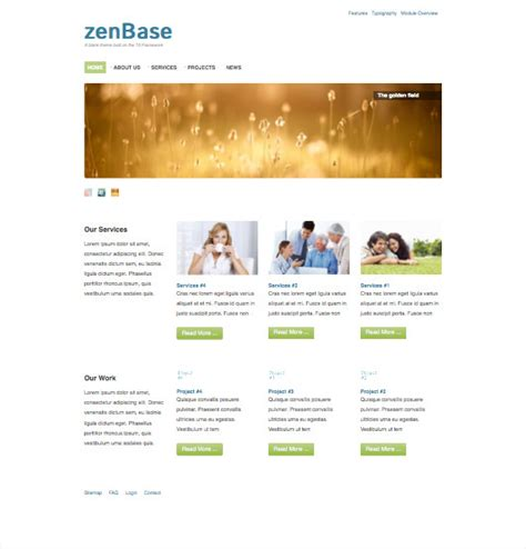 zenbase a free responsive t3 joomla template framework